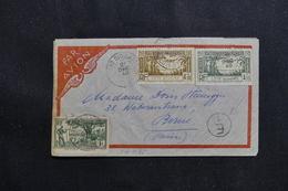 CÔTE D'IVOIRE - Enveloppe De Bobo Dioulasso Pour La Suisse En 1940 Avec Cachet De Contôle, Affr. Plaisant - L 61243 - Costa De Marfil (1892-1944)