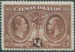 Cayman Islands 1932 SG84 ¼d Brown KWIV And KGV MH - Caimán (Islas)