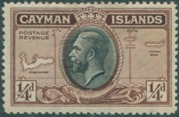 Cayman Islands 1935 SG96 ¼d Black And Brown KGV MNH - Caimán (Islas)