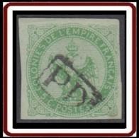 Colonies Générales - Aigle Impérial N° 2 (YT) N° 2 (AM) Oblitéré PD Encadré De Réunion. - Águila Imperial
