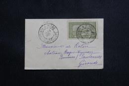 GUADELOUPE - Petite Enveloppe De Pointe à Pitre Pour La France En 1922, Affranchissement Plaisant - L 61244 - Lettres & Documents