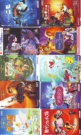 SUPER LOT DISNEY - 100 CARTES PREPAYEES Japon (A-15) 100 Japan PREPAIDCARDS - 100 DISNEY KARTEN - Disney