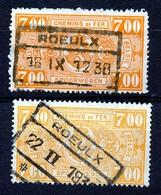 "TR 159 (2x) - ""ROEULX"" -  2 Nuances - (ref. 31.893) - 1923-1941"
