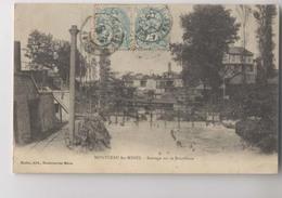 MONTCEAU Les MINES  [71] Saône Et Loire - 1905 - Barrage Sur La Bourbince - Montceau Les Mines