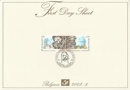 EMISSION COMMUNE  BELGIQUE - RUSSIE  2003 - Cartas Commemorativas