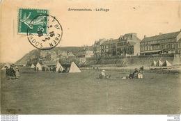 Promotion Club 14 ARROMANCHES. La Plage 1908 Carte Molle - Arromanches