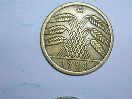ALEMANIA 50 RENTENPFENNIG 1924 A (1243) - 50 Rentenpfennig & 50 Reichspfennig