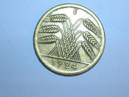 ALEMANIA 50 RENTENPFENNIG 1924 E (1244) - 50 Rentenpfennig & 50 Reichspfennig