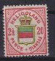 Altdeutschland Helgoland 18 G Wappen Ungebraucht Kat-Wert 15,00 - Heligoland