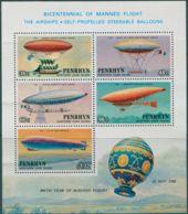 Cook Islands Penrhyn 1983 SG325A Manned Flight Incorrect ISLANS MS MNH - Penrhyn