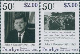 Cook Islands Penrhyn 2013 SG624-625 Kennedy Set MNH - Penrhyn