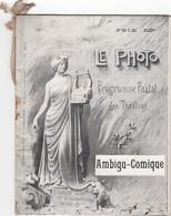 Le Photo. Programme Postal Des Théâtres - Programs