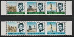 QATAR - N°252/7 ** (1966) J.F Kennedy - Surcharge Nouvelle Monnaie. - Qatar