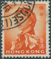 Hong Kong 1962 SG196 5c Red-orange QEII FU - Hong Kong (...-1997)