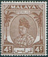 Malaysia Perlis 1951 SG10 4c Brown Raja Syed Putra MLH - Perlis