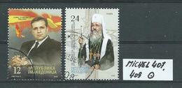 MAZEDONIEN MICHEL 407,409 Gestempelt Siehe Scan - Mazedonien