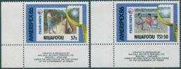 Niuafo'ou 1986 SG82-83 Ameripex Stamp Exhibition Corner Set MNH - Tonga (1970-...)
