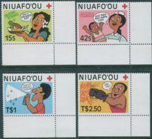 Niuafo'ou 1987 SG90-93 Red Cross Corner Set MNH - Tonga (1970-...)