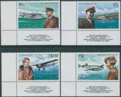 Niuafo'ou 1987 SG99-102 Air Pioneers Corner Set MNH - Tonga (1970-...)