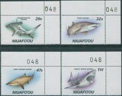 Niuafo'ou 1987 SG94-97 Sharks Corner Set MNH - Tonga (1970-...)