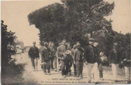 17 ILE De RE -St-Martin-de-Ré  Un Convoi De Forçats Arrivant De La Rochelle - Ile De Ré