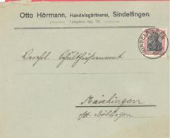 Reich Michel # 90 II EF Auf Brief Von Sindelfingen Nach Maichingen - Deutschland