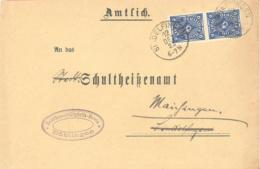 Reich Michel # 228 MeF Auf Brief Von Sindelfingen Nach Maichingen - Deutschland