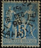 -Sage N°90 Type Ll.(CAD) O PARIS R LAFAYETTE. DEC 1899. - 1876-1898 Sage (Type II)