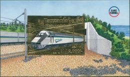 Tanzania SG2057X 1995 2000/- Gold Foil Euro Tunnel MS MNH - Tansania (1964-...)