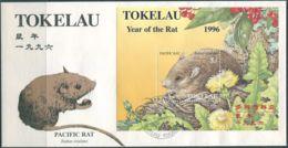 Tokelau 1996 SG239 New Year Of The Rat MS FDC - Tokelau