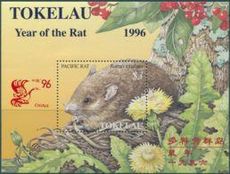 Tokelau 1996 SG245 China Stamp Exhibition Year Of The Rat MS MNH - Tokelau