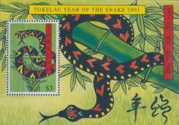 Tokelau 2001 SG318 Chinese New Year Of The Snake MS MNH - Tokelau