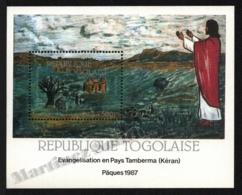 Togo 1987 Yvert BF 259, Art. Religion. Easter. Nadoba Frescoes, Jesus - Miniature Sheet - MNH - Togo (1960-...)