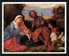 Togo 1988 Yvert BF 272, Christmas. Art. Religion. Tiziano Painting, Holy Family - Miniature Sheet - MNH - Togo (1960-...)