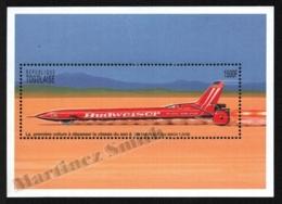 Togo 1996 Yvert BF 296, Transport. Supersonic Rocket Car - Miniature Sheet - MNH - Togo (1960-...)