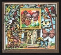 Togo 1990 Yvert BF 280, Fauna. Birds & Butterflies. Organizations. Scouts - Miniature Sheet - MNH - Togo (1960-...)
