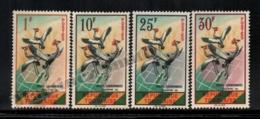 Togo 1961 Yvert 325-28, Fauna. Birds, Black Crowned Crane - MNH - Togo (1960-...)