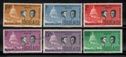 Togo 1962 Yvert 365-70, Politics. Famous People. Presidents Olympio & Kennedy - MNH - Togo (1960-...)