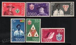 Togo 1961 Yvert 334-39, Organizations. Famous People. Boy Scouts - MNH - Togo (1960-...)