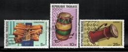 Togo 1977 Yvert 886-88, Music. African Instruments, Gongophone, Tam-tam & Dondon - MNH - Togo (1960-...)