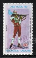 Togo 1980 Yvert 977, Sports. Lake Placid 80 Winter Olympic Games, Biathlon - MNH - Togo (1960-...)