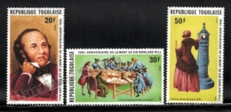 Togo 1979 Yvert 951-53, Famous People. Rowland Hill Death Centenary - MNH - Togo (1960-...)