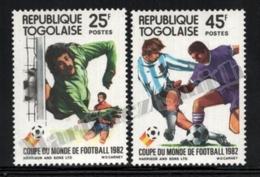 Togo 1982 Yvert 1074-75, Sports. Football, Spain 82 FIFA World Cup - MNH - Togo (1960-...)