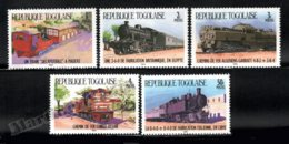 Togo 1984 Yvert 1158-62, Trains. Locomotives - MNH - Togo (1960-...)