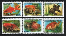 Togo 1999 Yvert 1688BU-88BZ, Fauna. Fishes, Goldfish - MNH - Togo (1960-...)