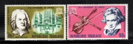 Togo 1967 Yvert Airmail 69-70, Music. Famous People. Composers, Bach & Beethhoven, Instruments - MNH - Togo (1960-...)