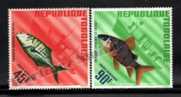 Togo 1967 Yvert Airmail 63-64, Fauna. African Fishes - MNH - Togo (1960-...)
