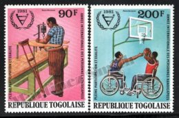Togo 1981 Yvert Airmail 462-63, Disability. Intenational Year Disabled Persons - MNH - Togo (1960-...)