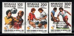 Togo 1983 Yvert Airmail 483-85, Sports. Football, Spain 82 FIFA World Cup. Winner Italy - Overprinted - MNH - Togo (1960-...)