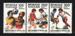 Togo 1982 Yvert Airmail 473-75, Sports. Football, Spain 82 FIFA World Cup - MNH - Togo (1960-...)